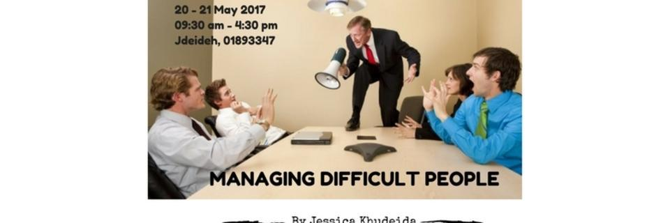 Event cover managing difficult people