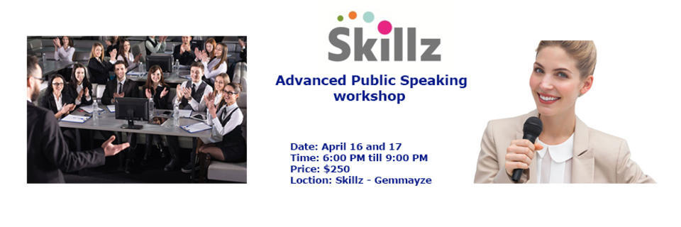 Event cover advanced public speaking banner april 2018