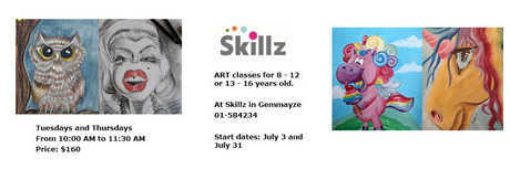 Event cover index art classes at skillz for children 2018 summer
