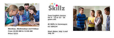 Event cover index teen english classes at skillz for children 2018 summer