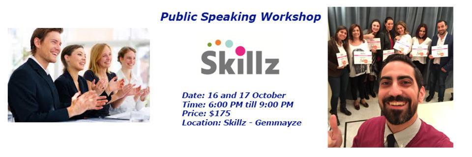 Event cover public speaking october 2018